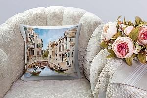 3D Подушка «Венецианские гондольеры»