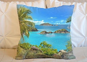 3D Подушка «Остров в океане»