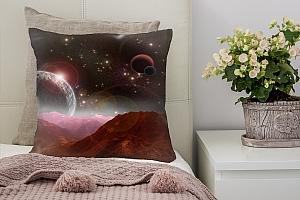 3D Подушка «Вид с красной планеты»
