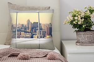 3D Подушка «Современный мегаполис»