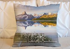 3D Подушка «Терраса перед горным озером» вид 4