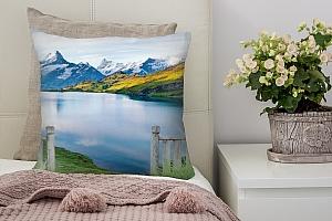 3D Подушка «Терраса у подножья гор»