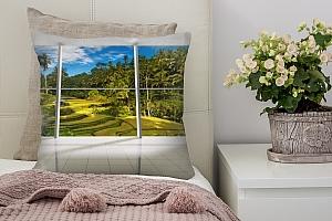 3D Подушка «Терраса с видом на тропический лес» вид 7