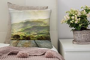 3D Подушка «Зеленая долина»