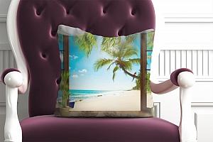 3D Подушка «Терраса у теплого моря» вид 5