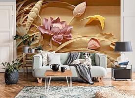 3D Фотообои  «Цветы с тиснением» вид 8
