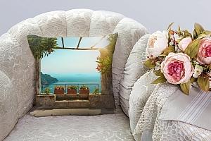 3D Подушка «Солнечная терраса» вид 3