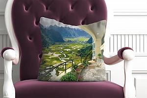 3D Подушка «Солнечная веранда» вид 3