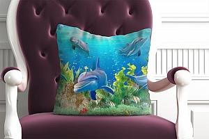 3D Подушка «Дельфины» вид 2