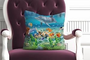 3D Подушка «Морские обитатели» вид 2