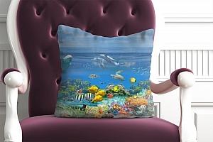 3D Подушка «Обитатели лагуны» вид 2