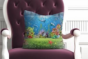 3D Подушка «Газон под водой» вид 2
