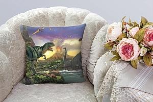 3D Подушка «Величественные динозавры» вид 3