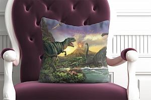 3D Подушка «Величественные динозавры» вид 4