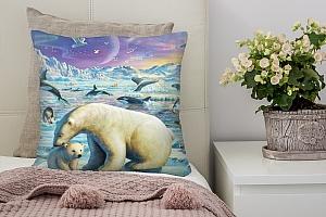 3D Подушка «Обитатели крайнего севера» вид 2