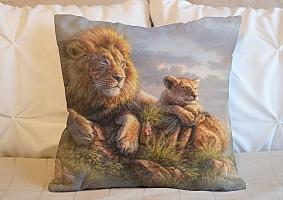 3D Подушка «Величественные львы» вид 5