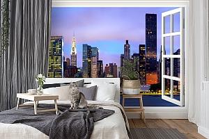 3D Фотообои  «Манхеттен вид из окна»  вид 7