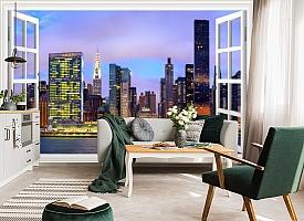 3D Фотообои  «Манхеттен вид из окна»  вид 5