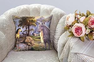 3D Подушка «Мустанги в лесу» вид 3