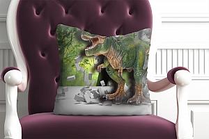 3D Подушка «Динозавр ломает преграды» вид 4