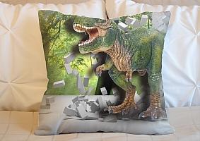 3D Подушка «Динозавр ломает преграды» вид 5