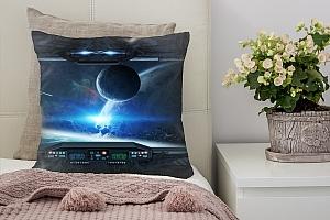 3D Подушка «Вид из иллюминатора звездного корабля»