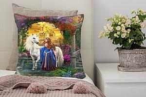 3D Подушка «Принцесса и единорог» вид 2