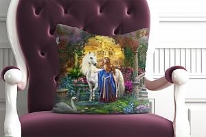 3D Подушка «Принцесса и единорог» вид 4