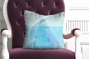 3D Подушка «Кит и кораблик» вид 4