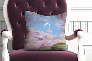3D Подушка «Города в облаках» вид 4