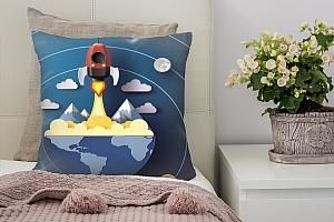 3D Подушка «Взлет ракеты»