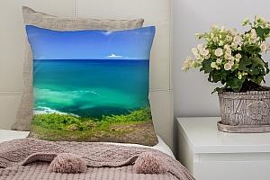 3D Подушка «Зеленый берег»