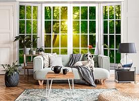 3D Фотообои  «Панорамное окно»
