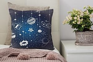 3D Подушка «Детский космический фон»