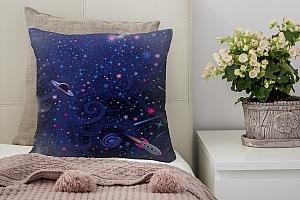 3D Подушка «Космический узор»