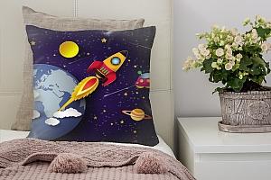 3D Подушка «Космос для детской»