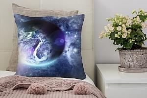 3D Подушка «Фантастический вид на Землю»