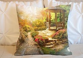 3D Подушка «Весеннее утро в заповедном парке»