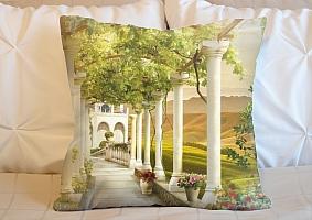 3D Подушка «Колонны в долине винограда»