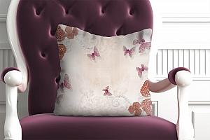 3D Подушка «Композиция с ювелирными бабочками»
