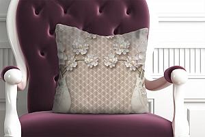 3D Подушка «Вазы с ювелирными цветами»
