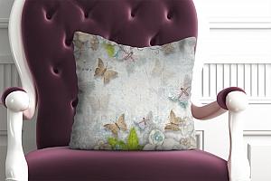 3D Подушка «Цветы и бабочки» вид 2