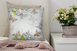 3D Подушка «Цветы и бабочки» вид 4
