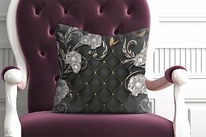 3D Подушка «Цветочный узор в аристократическом стиле»