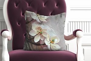 3D Подушка «Объемная цветущая ветка»