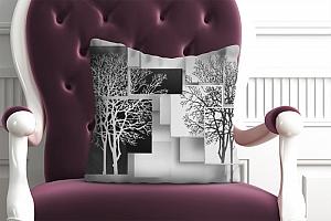 3D Подушка «Деревья в стиле модерн»