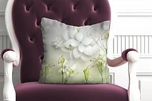 3D Подушка «Зеленые каллы»
