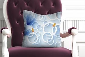3D Подушка «Безмятежные васильки»