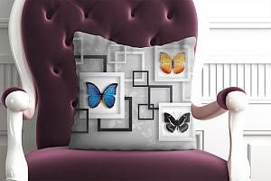 3D Подушка «Коллекция бабочек»
