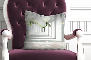 3D Подушка «Тоннель с лотосами»